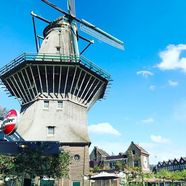 Rode our bikes to an old windmill that is nowhellip