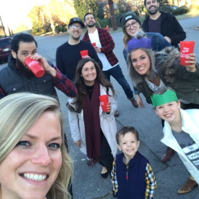 Friends like family on a postThanksgiving walk thankful myheartisfull andwineinmycup